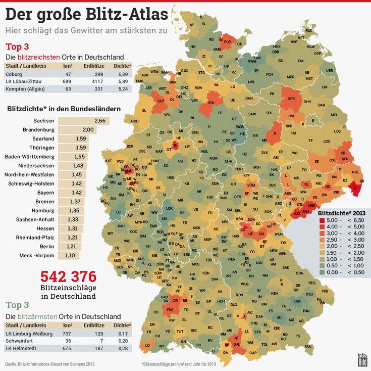Der große Blitz-Atlas Deutschland RICHTIGES VERHALTEN BEI GEWITTER Kann der Blitz ins Handy einschlagen?