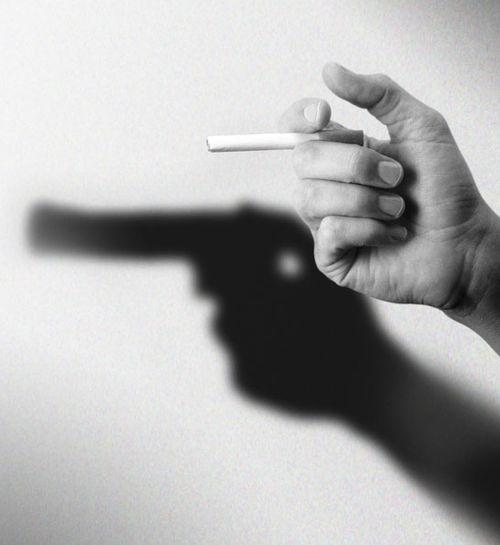 Pistol  Anti- Smoking Advertisement