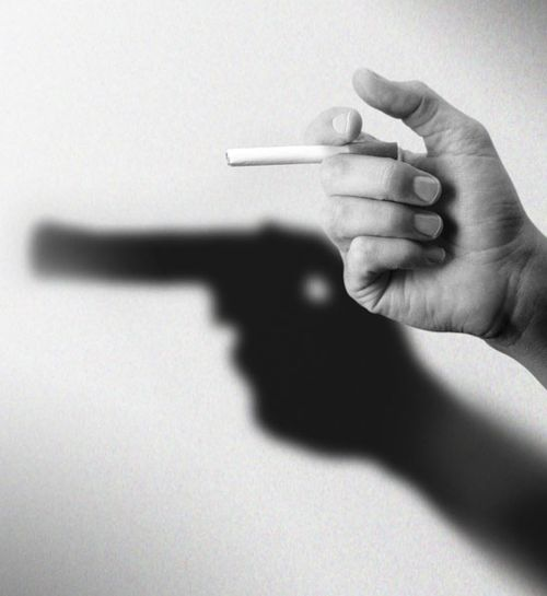 Anti- Smoking AdvertisementBangbang, Guns, Inspiration, Creative, Art, Bangs Bangs, Smoke Kill, Photography, Design