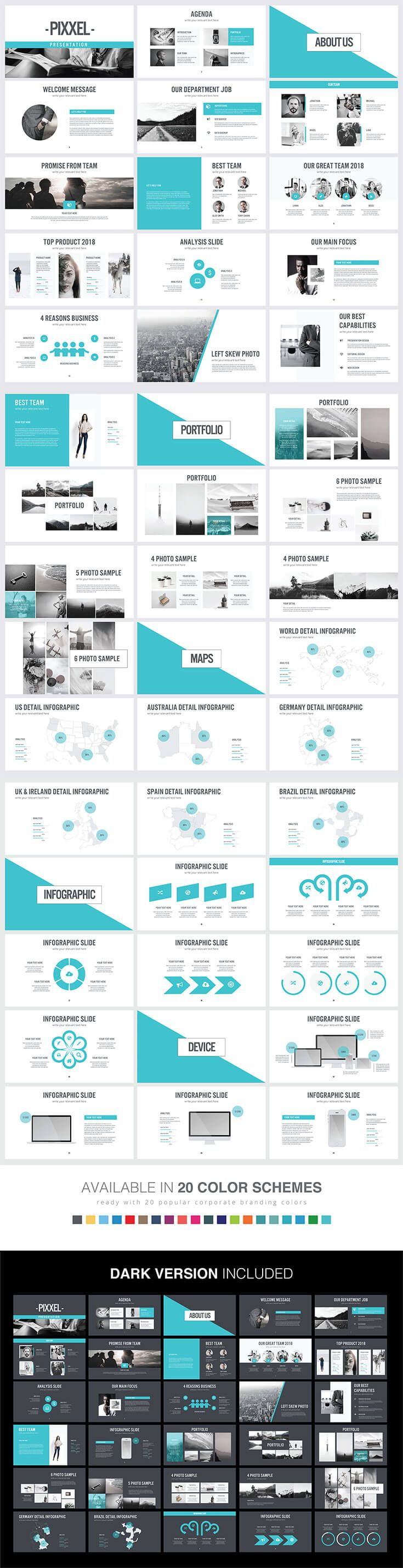 #Free Pixxel #PowerPoint #Presentation Templatesis a collection of ready and easy-to-use presentation template. If you are looking for a minimal template. via @creativetacos