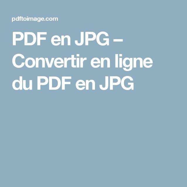 PDF en JPG – Convertir en ligne du PDF en JPG