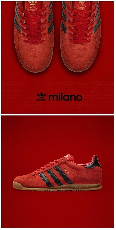 adidas Originals Milano: Red/Black WOMEN'S ATHLETIC & FASHION SNEAKERS http://amzn.to/2kR9jl3