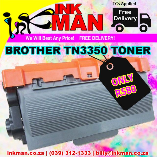 @BrotherOffice TN3350 #Toner #UNBEATABLE #PRICE! ONLY R580 #INKman #Margate #Print http://bit.ly/1NMERSi