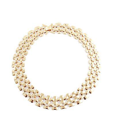 Colares de ligação de ouro cubano jóia masculina e feminina elegante