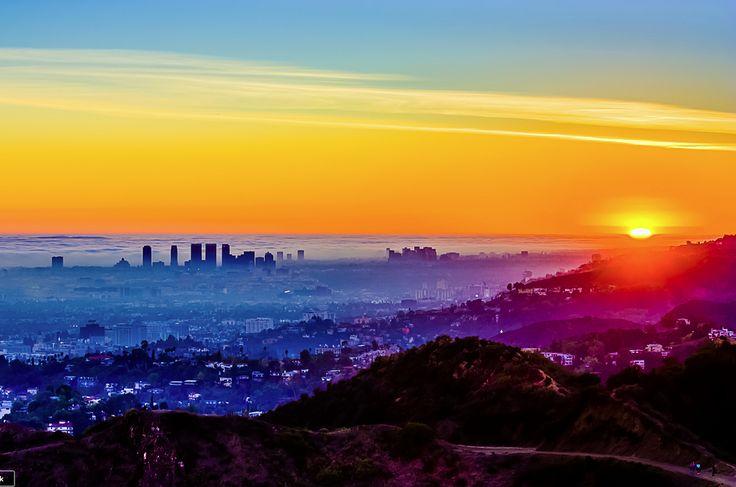 Fog v. Smog in the Los Angeles basin. Photo: Carl Larson