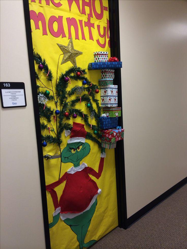 The 25+ best The grinch door decorations for school ideas ...