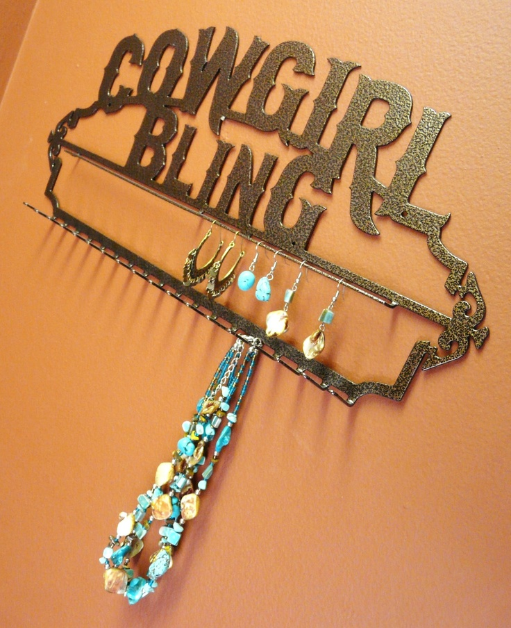 New Cowgirl Bling Heavy Duty Jewelry Holder by langleymetalworks, $24.95