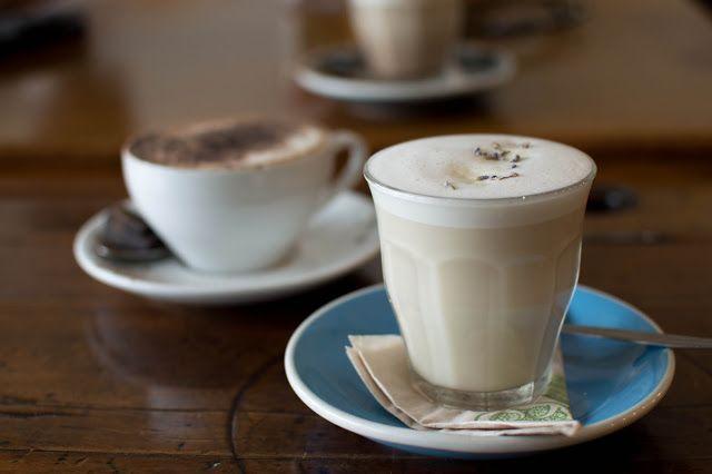 Lavender latte with oat milk   CAFE SPOTTING: COSSET