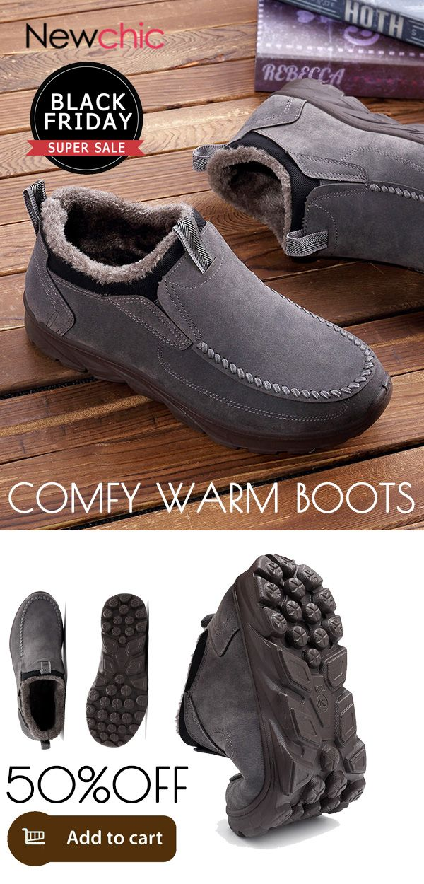 42b37beb4f  50%off Large Size Men Suede Comfy Warm Plush Lining Ankle Boots.  mens   boots  warm  winter  footwear