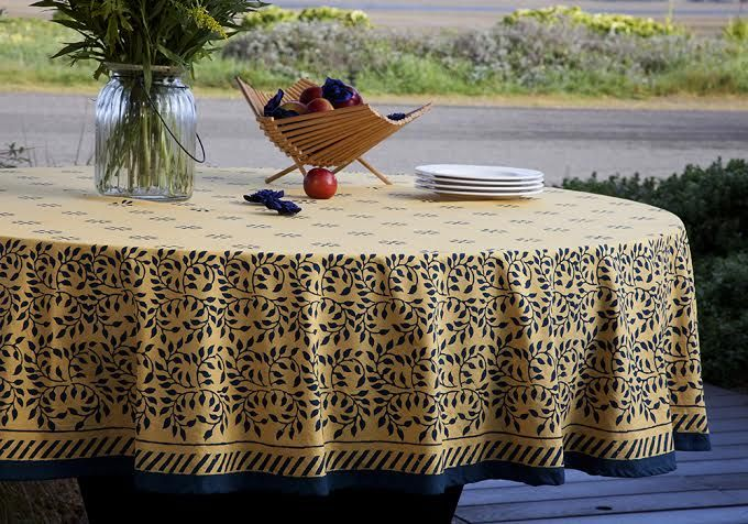 High Quality French Country Tablecloths   Table Linens India   Hand Block Printed From  Attiser