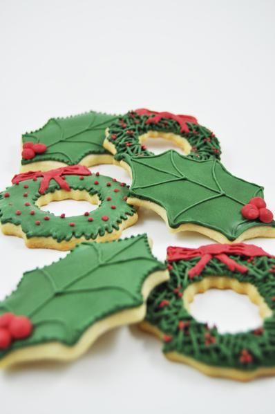 Christmas Holly - One Dozen Cookies Pinterest Galletas de
