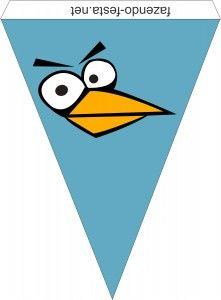 bandeirinhas angry birds azul