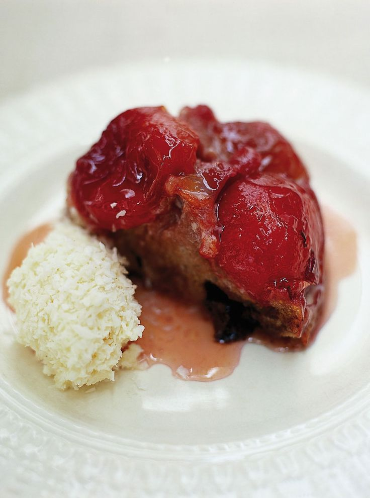 Plum upside-down cake | Recipe | Upside down cakes, Jo o'meara and The ...