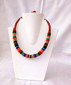 Multicolor Threaded Necklace
