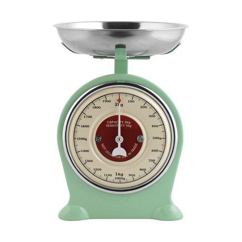 BILANCIA DA CUCINA SCALE - bilancia 'vintage' da cucina 2kg. in metallo verniciato - vintage painted metal scale