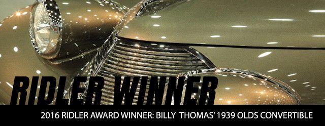 2016 Ridler Award Winner: Billy Thomas' 1939 Olds Convertible