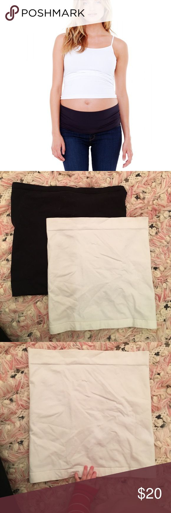 Original Bella Band black and white Original Bella Bands. One black and one white. Bother like new. Size 1. Please see image for sizing. Great for extra support, lengthening tops, and wearing pre pregnancy pants longer. Originally $28 each. Ingrid & Isabel Accessories Hosiery & Socks