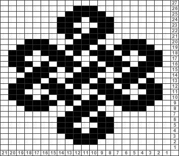 Tricksy Knitter Charts: celtic knot by coloredkitsch