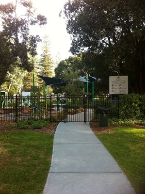 Mueller Park Subiaco WA - Musical park designed for toddlers