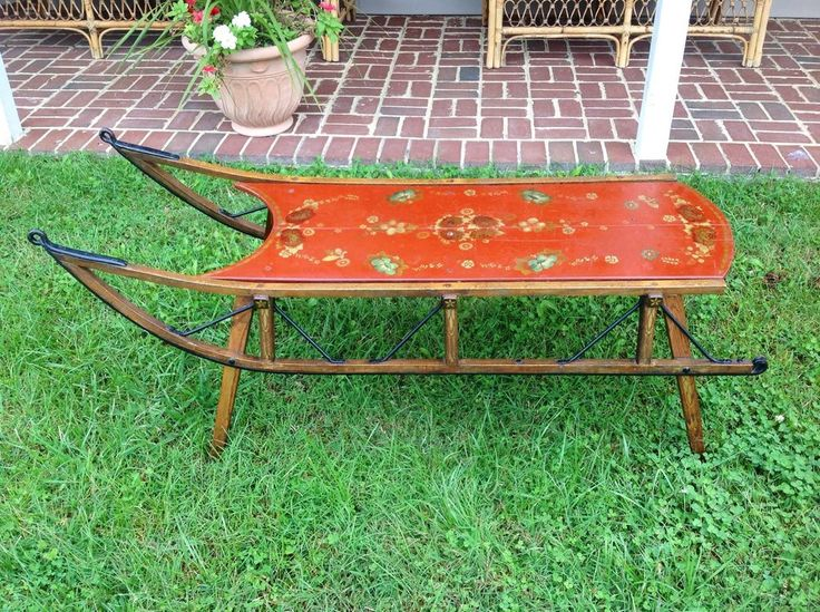 273 best antique toy wagons sleighs carriage images on pinterest car cirque du soleil and Antique sleigh coffee table