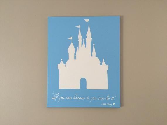 Disney S Cinderella Castle Canvas Painting Home Decor Walt Disney Quote Disney Canvas Disney Paintings Disney Canvas Paintings