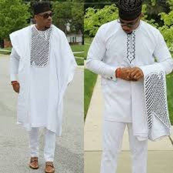 9346155518600 3 pieces, Agbada, shirt and trouser , African native wear, groom ...