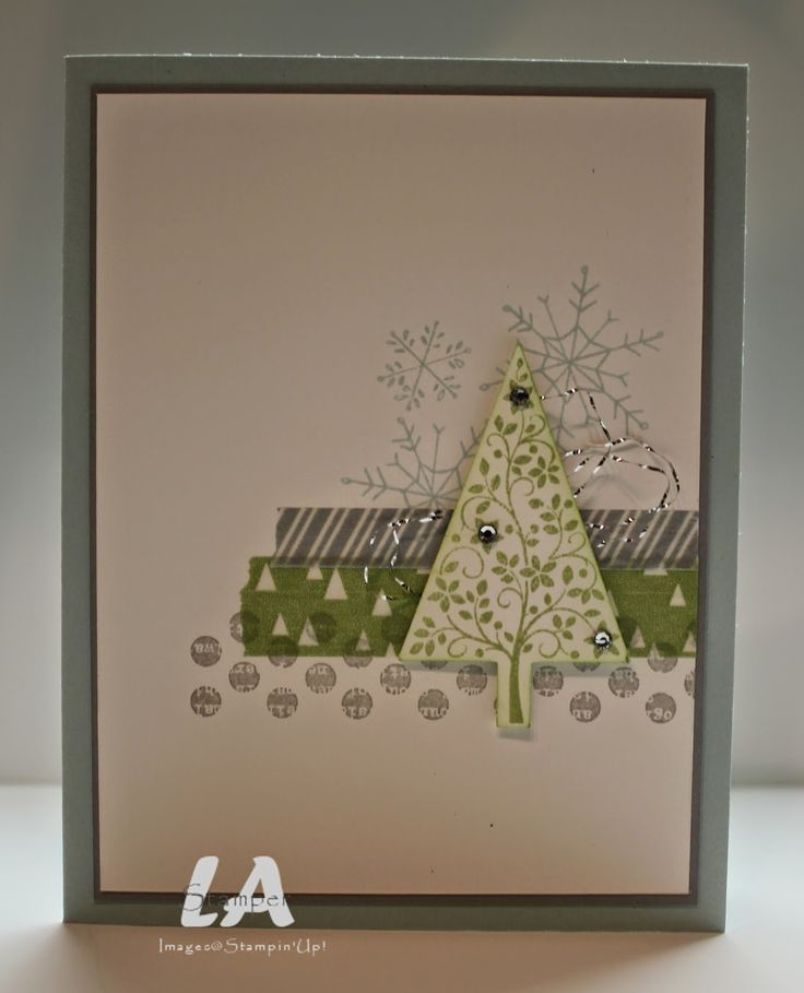 LA Stamper, Stampin' Up!: Simple Card Sunday 4. Visit my blog for more ideas using this card layout