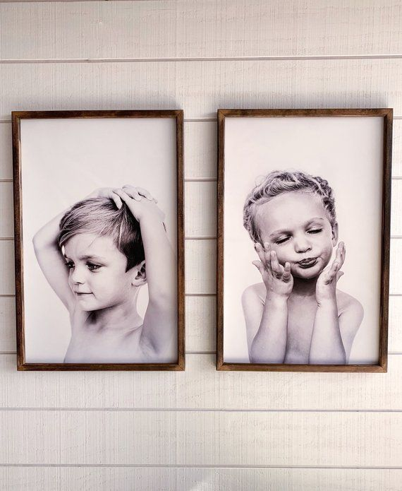 Large Framed Photo Print On Wood Free Shipping Your Photo Etsy Wood Photo Prints Family Tree Photo Frame Gallery Wall Frames