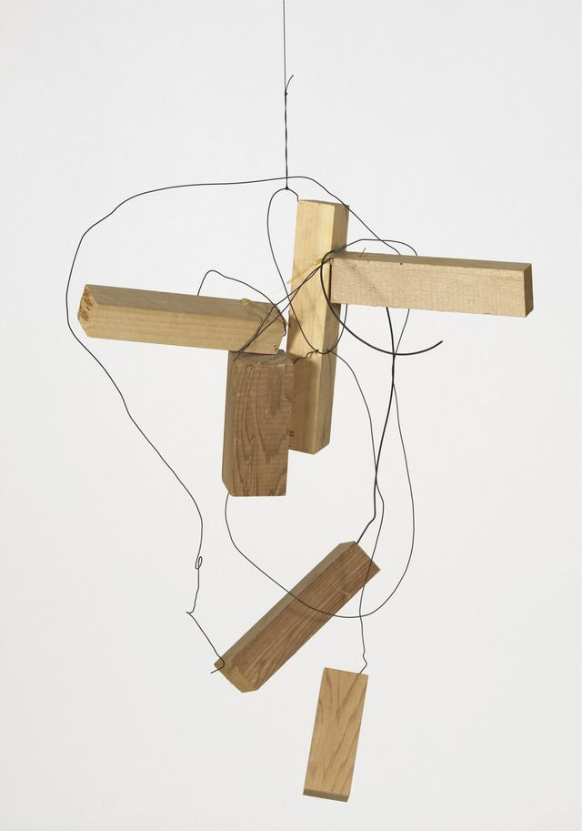 "wood and wire, 21"" x 16-1/2"" x 10"" (53.3 cm x 41.9 cm x 25.4 cm), © 2002 Joel Shapiro / Artists Rights Society (ARS), New York"