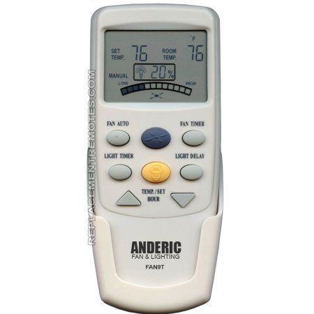 Buy ANDERIC FAN9T Timer Thermostatic with Fan Timer for Hampton Bay (p/n: FAN9T) Ceiling Fan Remote Control (new) at Walmart.com