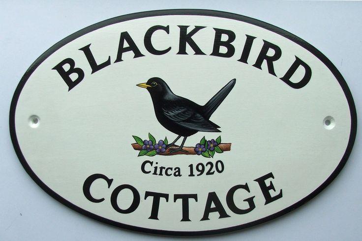 7 best hand painted ceramic house signs images on. Black Bedroom Furniture Sets. Home Design Ideas