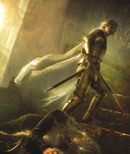 The Death of Mad King Aeryn Targaryen (slain by Jaime Lannister [The Kingslayer]) the last Targaryen King in Westeros. The Targaryens were dragonlords, said to have 'the blood of the dragon' in their veins