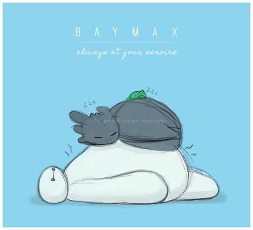 Baymax, Toothless, and Pascal! <3 Even if Toothless isn't Disney this is so cute!