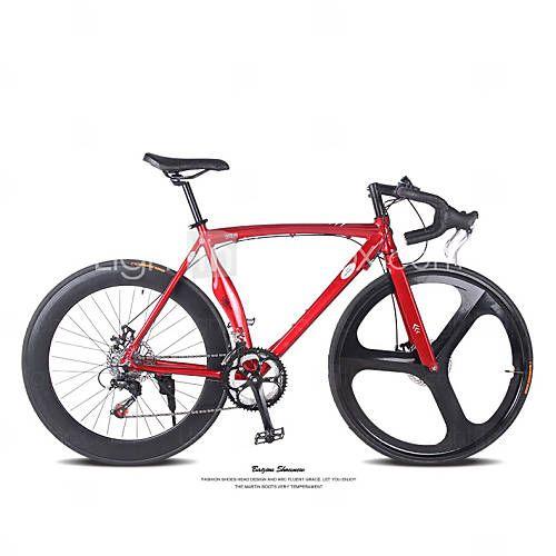 14 скоростей 3 спицы + 60mm задние колеса Т.Л. ™ 700c bicicleta алюминиевый сплав дисковый тормоз изгиб руля дорожный велосипед 4902061 2016 – €529.19