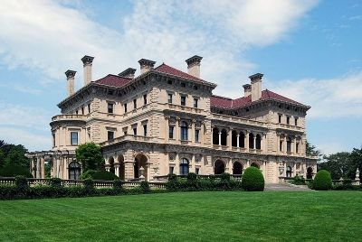 The Breakers is a magnificent castle located in Newport, Rhode Island along the Atlantic Ocean. The Breakers was built from 1893 to 1895 by architect Richard Morris Hunt for millionaire Cornelius Vanderbilt II
