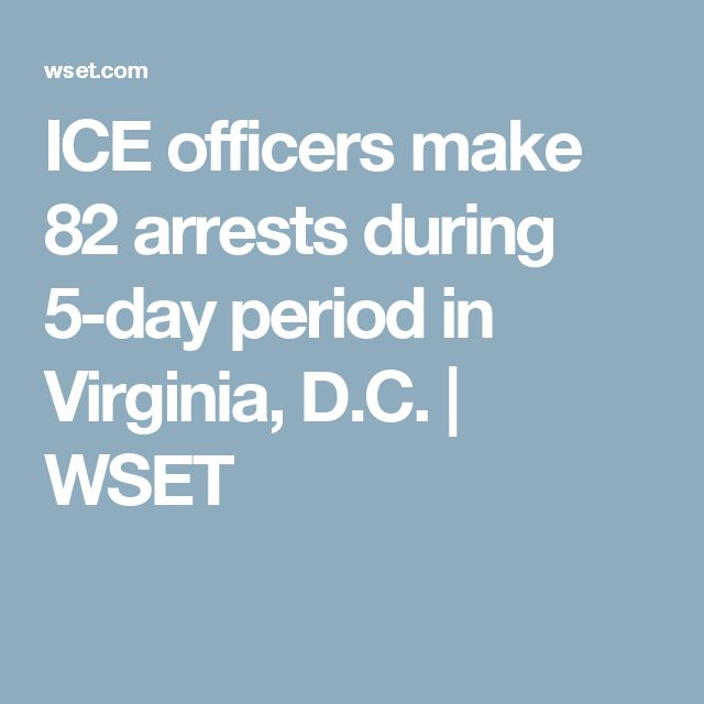 ICE officers make 82 arrests during 5-day period in Virginia, D.C. | WSET