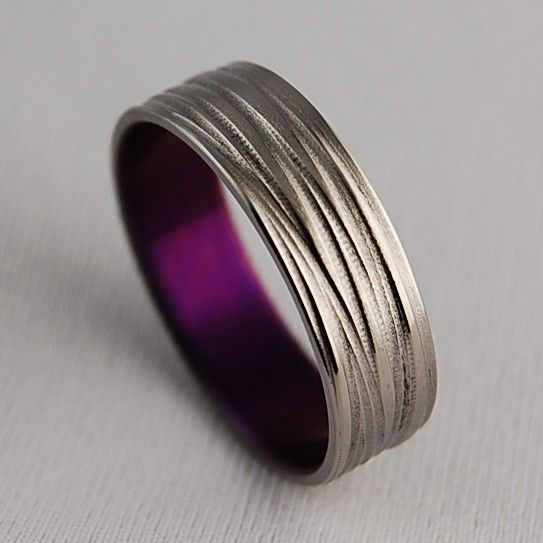 Titanium Ring  The Sphinx in Mystic Purple by RomasBanaitis, $85.00