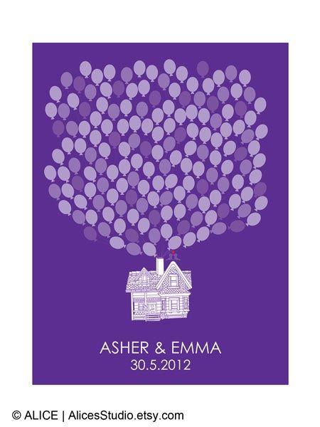 diy wedding guest ideas | DIY Wedding Guest Book Flying Up House by ... | Wedding Ideas