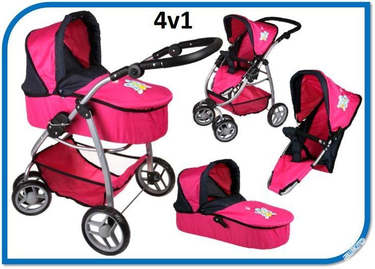 Kočárek pro panenky Boncare M4 růžový Kočárek pro (6592731195) - Aukro - největší obchodní portál