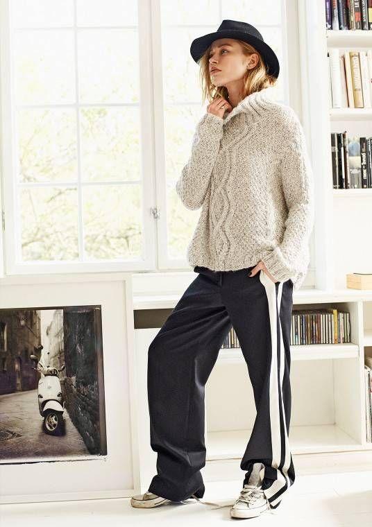 Oversize genser