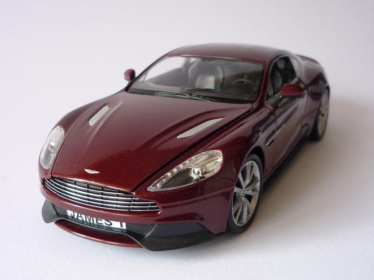 Personalised Plate 1/24 Burgundy Aston Martin Vanquish