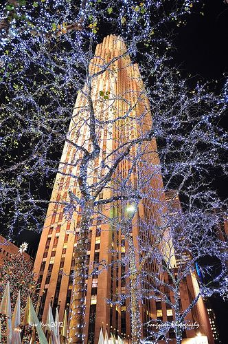New York City Rockefeller Center at New Year Eve,e em todas as outras datas,é lindo...