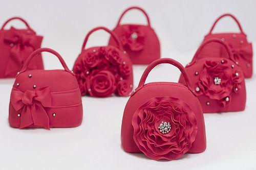 Miniature cake purses