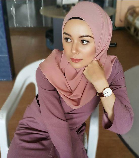 Gambar Nur Sarah Marie Hildabrand - Pelakon Drama Adaptasi Novel Dia Imamku