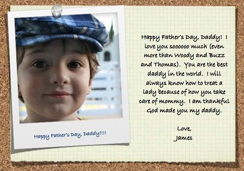 fathers day messages from toddler son