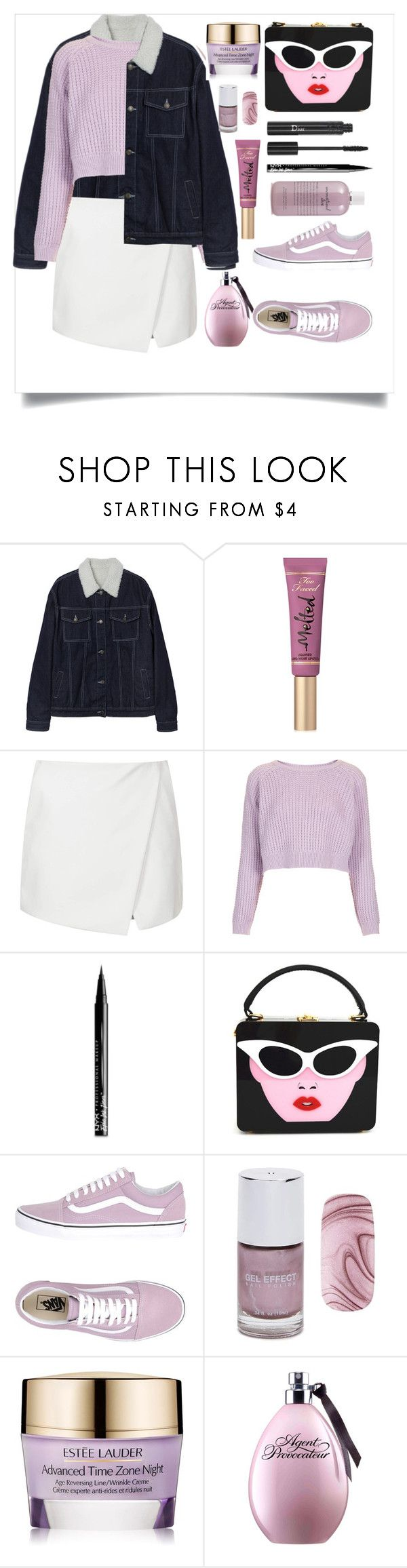 """SIMPLE 😍"" by samahdasan ❤ liked on Polyvore featuring Too Faced Cosmetics, Topshop, NYX, Vans, Christian Dior, Forever 21, Estée Lauder and philosophy"