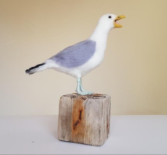 Coastal Bird Needle felted Seagull Seagull