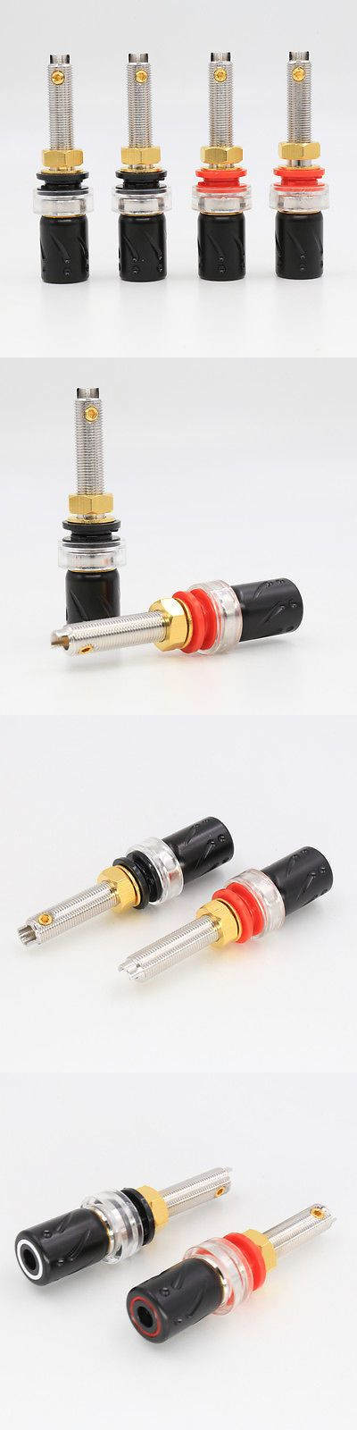 Audio Cable Plugs and Jacks: 4X Viborg Audio 100% Pure Copper Rhodium Plated Speaker Terminal Binding Post -> BUY IT NOW ONLY: $70 on eBay!