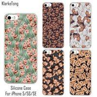 Kim Kardashian Funny Face Kimoji Soft Silicone Case For iphone 5/5S/SE Transparent TPU Phone Back Cover