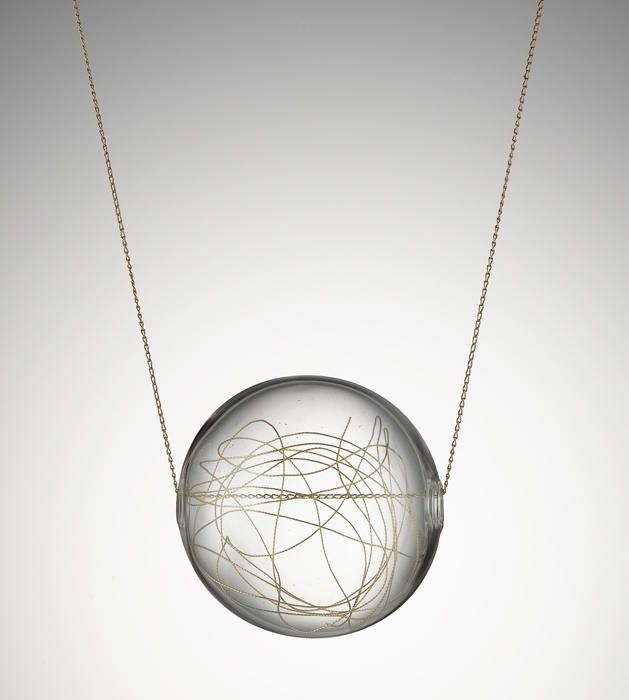 Lucciole by Wendy Ramshaw.  Glass with gold thread